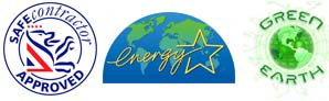 Safe Contractor Approved, Energy Star, Green Earth