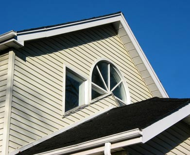 Siding installation by Aaby Construction